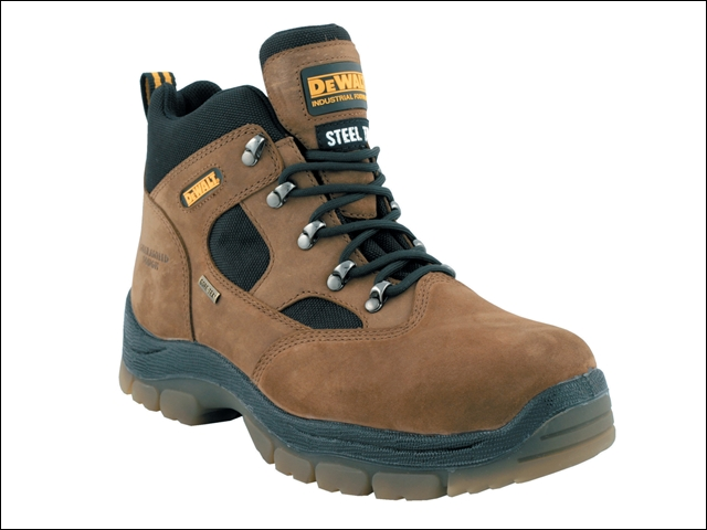 DEWALT Challenger Gore-Tex Lined Waterproof Hiker Boots Brown UK 10 Euro 44