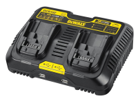 DEWALT DCB102 XR Jobsite Dual Port & USB Charging Station 10.8-18 Volt Li-Ion 18V