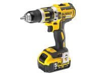 DEWALT DCD795P2 XR Compact Brushless Hammer Drill Driver 18 Volt 2 x 5.0Ah Li-Ion 18V