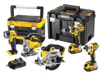 DEWALT DCK550M3T 5 Piece Cordless Kit in 2 x TSTAK 18 Volt 3 x 4.0Ah Li-Ion 18V