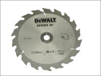 DEWALT Circular Saw Blade 184 x 16mm x 18T Series 30 Fast Rip