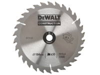 DEWALT Circular Saw Blade 184 x 16mm x 30T Series 30 General Purpose