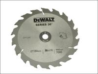 DEWALT Circular Saw Blade 190 x 30mm x 18T Series 30 Fast Rip