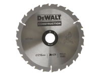 DEWALT Circular Saw Blade 216 x 30mm x 24T Series 30 Construction Fast Rip