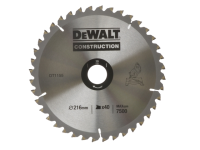 DEWALT Circular Saw Blade 216 x 30mm x 40T  Series 30 General Purpose