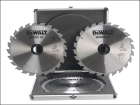 DEWALT Mitre Saw Blade Set In Aluminium Case 250 x 30mm x 24/48T