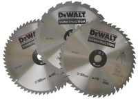 DEWALT Circular Saw Blades 305mm Set of 3 in Auminium Case