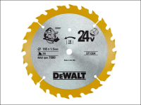 DEWALT Trim Saw Blade 165 x 10mm x 24T Fine Cross Cut