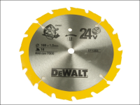 DEWALT Trim Saw Blade 165 x 20mm x 24T Smooth Wood Cut