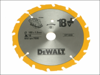 DEWALT Trim Saw Blade 165 x 20mm x 16T Fast Rip