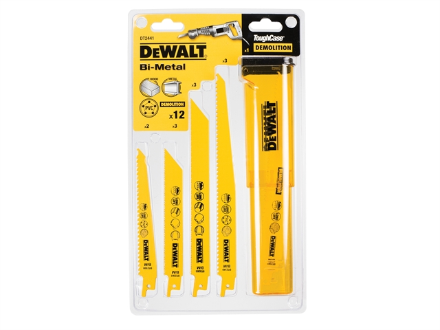 DEWALT Sabre Blade Set 12 Piece in Case