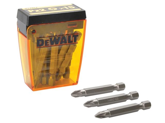 DEWALT DT7912 Flip Box of 15 Pozi No.2 Bits
