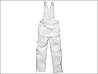 Dickies Painters Bib & Brace White - Large 38 to 40 waist