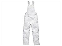 Dickies Painters Bib & Brace White- Medium 34 to 36 Waist