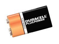 Duracell 9v Cell Plus Power Battery Pack of 2 MN1604/6LR6