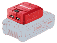 Einhell TE-CP 18 LI USB-Solo Power X-Change Charger 18 Volt 1-2.1Ah Li-Ion