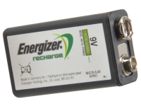 Energizer 9 Volt Rechargeable Power Plus Battery R9V 175 mAh Single 9V