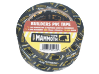 Everbuild Builders PVC Tape Black 50mm x 33m