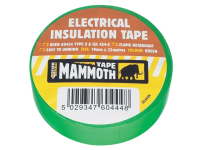 Everbuild Electrical Insulation Tape Green 19mm 33m