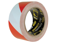 Everbuild PVC Hazard Tape Red / White 50mm x 33m