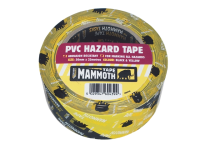 Everbuild PVC Hazard Tape Black / Yellow 50mm x 33m