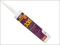 Everbuild 335 Construction Silicone White 310ml