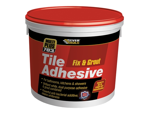 Everbuild Fix & Grout Tile Adhesive 10 Litre