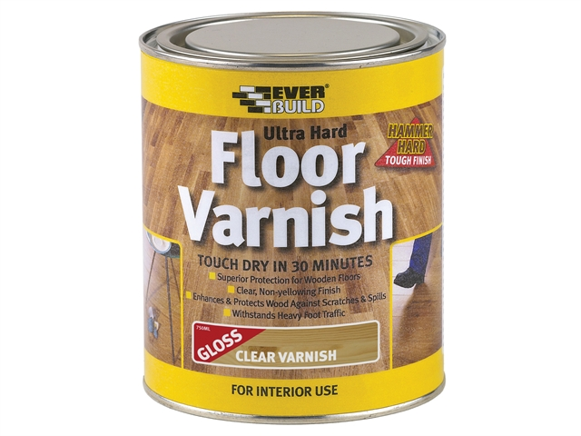Everbuild Ultra Hard Floor Varnish 750ml