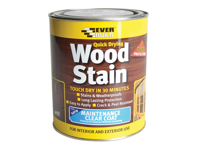 Everbuild Wood Stain Maintenance Clear Coat 250ml