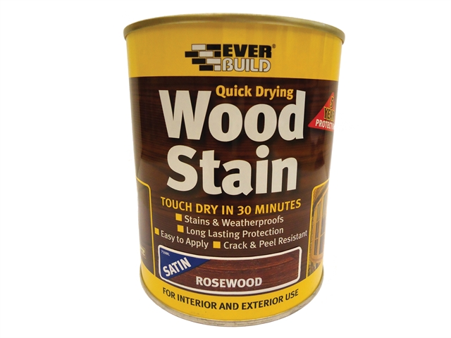 Everbuild Quick Dry Wood Stain Satin Rosewood 750ml
