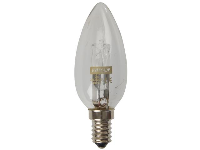 Eveready Lighting Candle ECO Halogen 28 Watt (36 Watt) SES/E14 Small Edison Screw Card of 2