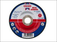Faithfull Grinding Disc for Metal Depressed Centre 100 x 5 x 16mm