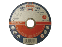 Faithfull Multi-Cut Thin Cut Off Wheel 125mm x 1.0 x 22 Pack of 10