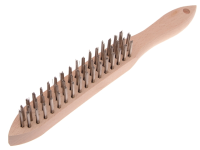 Faithfull 680/S3 Heavy-Duty Stainless Steel Scratch Brush - 3 Row