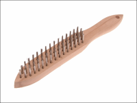 Faithfull 680/S4 Heavy-Duty Stainless Steel Scratch Brush - 4 Row