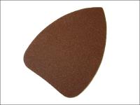 Faithfull Mouse Sander Sheets Hook & Loop Red Plain Medium (Pack of 5)