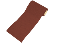 Faithfull Aluminium Oxide Paper Roll Red Heavy-Duty 115 mm x 10m 80g