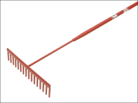 Faithfull 16 Flat Teeth Asphalt Rake - Tubular Shaft