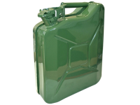 Faithfull Green Jerry Can - Metal 10 Litre