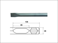 Faithfull Chisel 380mm Bosch / Hitachi Shank
