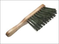 Faithfull Hand Brush Stiff Green PVC 275mm (11 in)