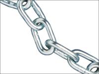 Faithfull Zinc Plated Chain 5mm x  25m Reel - Max Load 160kg