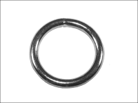 Faithfull Zinc Plated Welded Rings 5mm (Pack of 4)