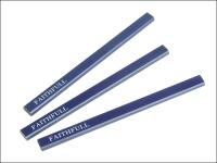 Faithfull Carpenters Pencils - Blue / Soft (Pack of 3)
