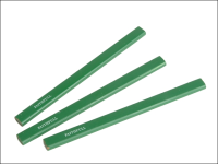 Faithfull Carpenters Pencils - Green / Hard (Pack of 3)