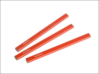 Faithfull Carpenters Pencils - Red / Medium (Pack of 3)