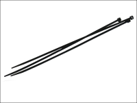 Faithfull Cable Ties Black 250mm X 4.8mm Pack of 100