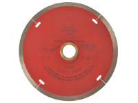 Faithfull Diamond Tile Blade Red Continuous Rim 125mm x 22.2mm