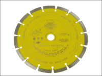 Faithfull Diamond Blade Yellow Series Abrasive Materials 230mm x 22.2mm
