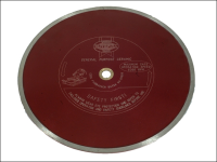 Faithfull Diamond Tile Blade Red Continuous Rim 300mm x 25.4mm
